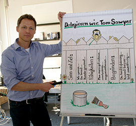 Jost Blomeyer am Flipchart